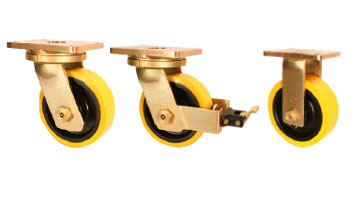 ABE75 Forged Precision Bearings Castors with SZS Series Soft Polyurethane Wheels