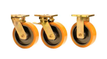 ABLP Forged Precision Bearing Castors with SAS Series Polyurethane Wheels