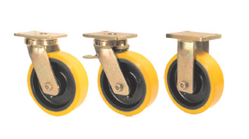 ABLP Forged Precision Bearing Castors with SZS Series Soft Polyurethane Wheels