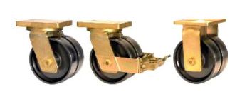 DABE75 Forged Twin Wheel Castors with SAS Series Polyurethane Wheels
