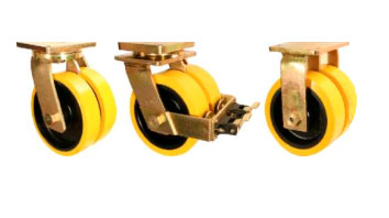 GHKE Castors with SFS Series Solid Elastomer Wheels