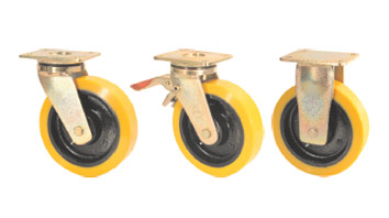 SAB Forged Precision Bearing Castors with SZS Series Soft Polyurethane Wheels