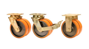 GRDDE Twin Wheel Castors with SAS Series Polyurethane Wheels