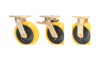 GGSE Castors with SZS Series Soft Polyurethane Wheels