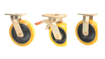 GHKE Castors with SZS Series Soft Polyurethane Wheels